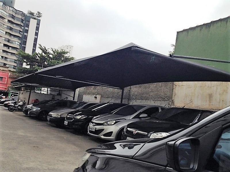 Cobertura para estacionamento condomínio