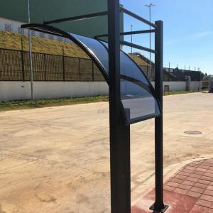 Cobertura para cancela de estacionamento